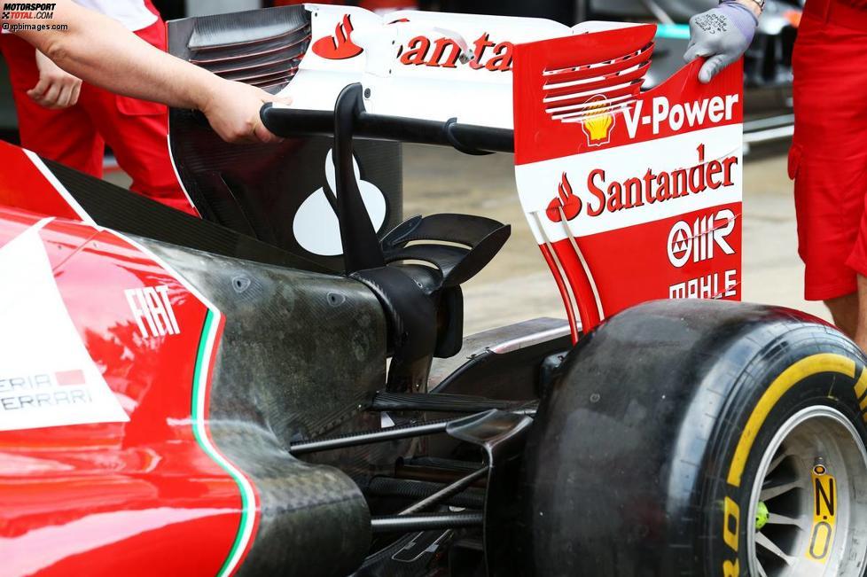 Heckbereich des Ferrari F14T