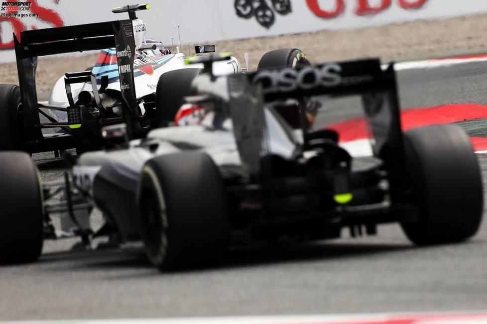 Valtteri Bottas (Williams) und Kevin Magnussen (McLaren)