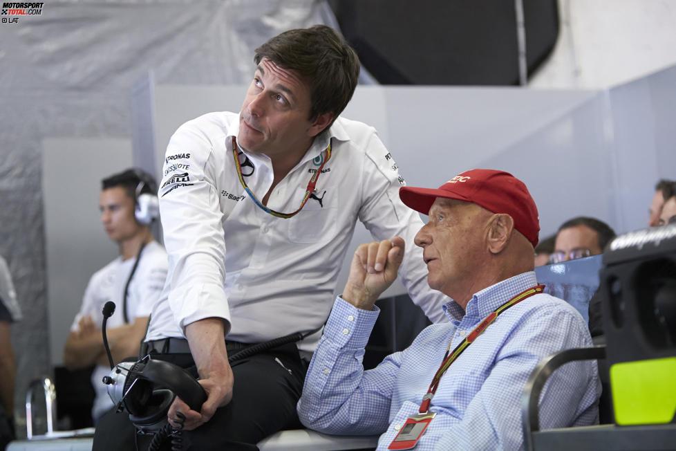 Toto Wolff mit Niki Lauda