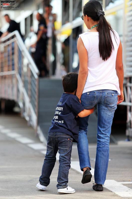 Felipe Massas Ehefrau Raffaela und Sohn Felipinho