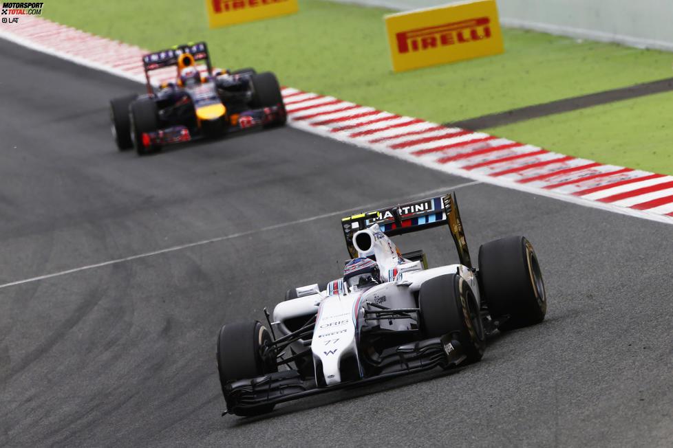 Valtteri Bottas (Williams) und Daniel Ricciardo (Red Bull)