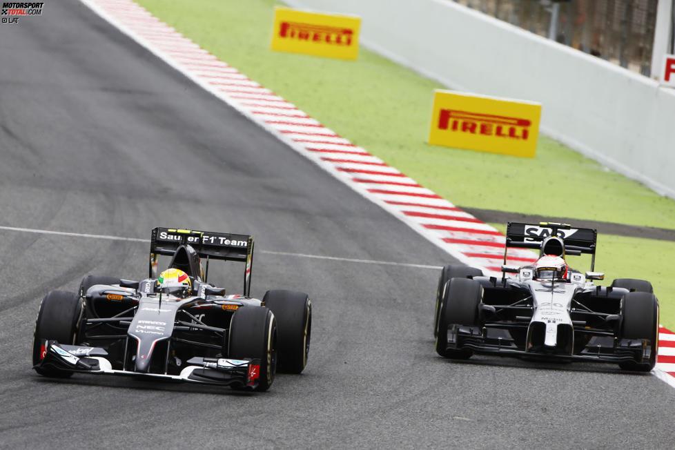 Esteban Gutierrez (Sauber) und Kevin Magnussen (McLaren)