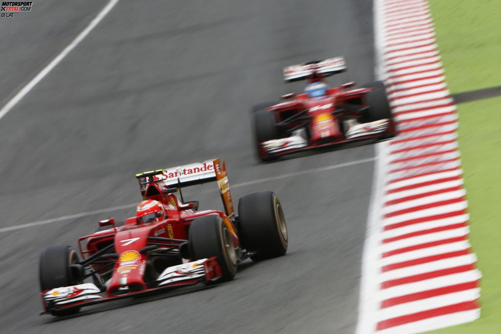 Kimi Räikkönen (Ferrari) und Fernando Alonso (Ferrari)