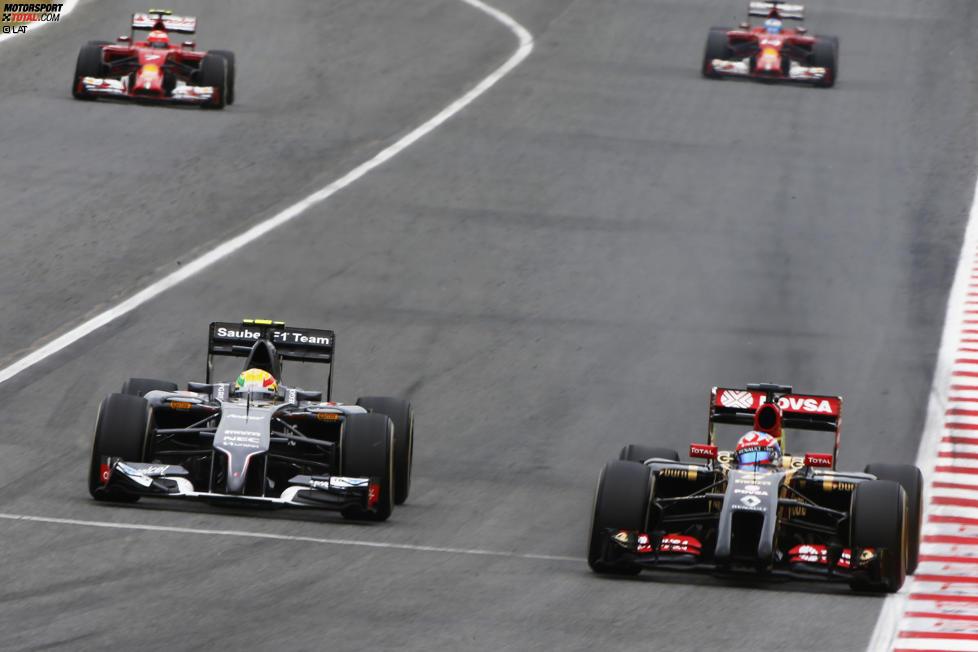 Romain Grosjean (Lotus) und Esteban Gutierrez (Sauber)