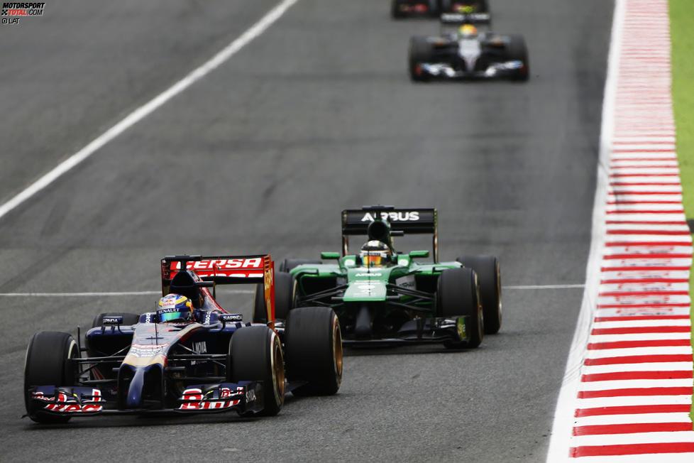 Jean-Eric Vergne (Toro Rosso) und Kamui Kobayashi (Caterham)
