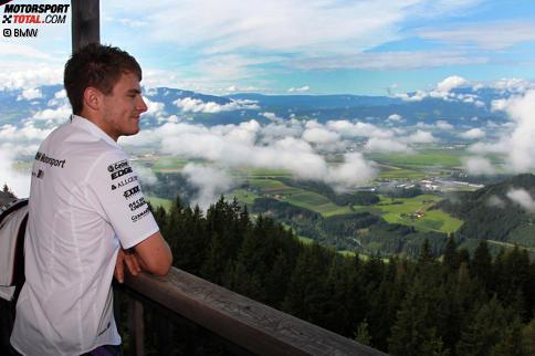 Marco Wittmann (RMG-BMW) genie?t die Aussicht