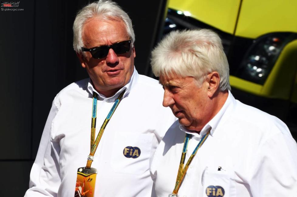 Charlie Whiting und Herbie Blash (FIA)