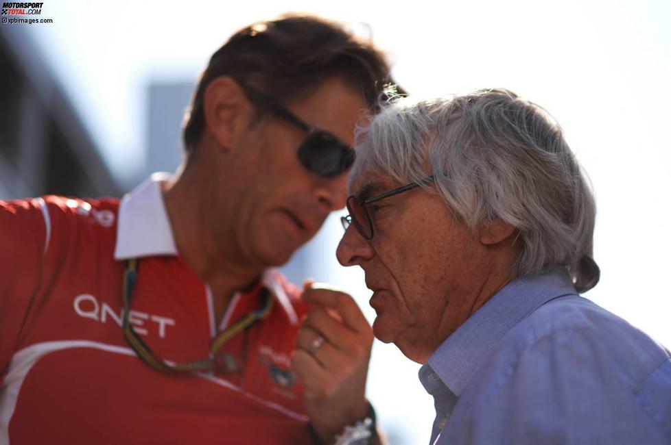 Graeme Lowdon (Marussia) und Bernie Ecclestone