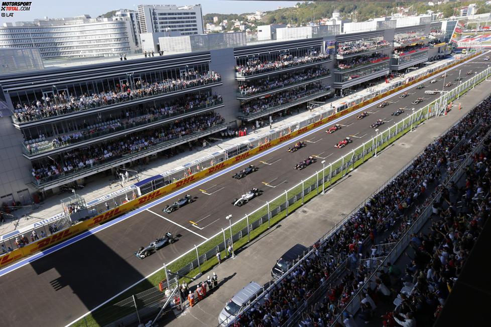 Lewis Hamilton (Mercedes) und Nico Rosberg (Mercedes)