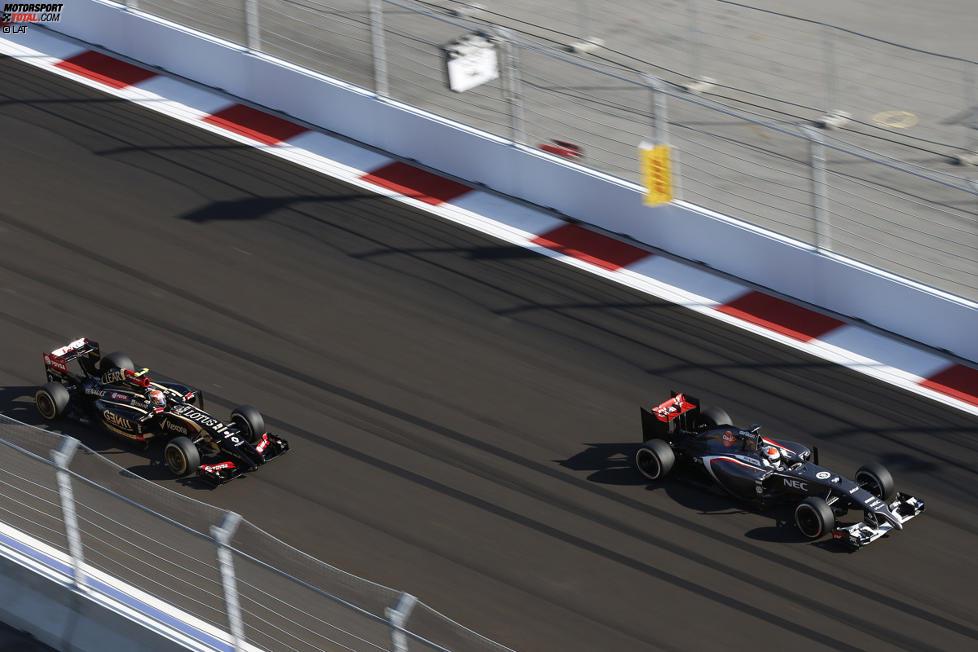 Adrian Sutil (Sauber) und Pastor Maldonado (Lotus)