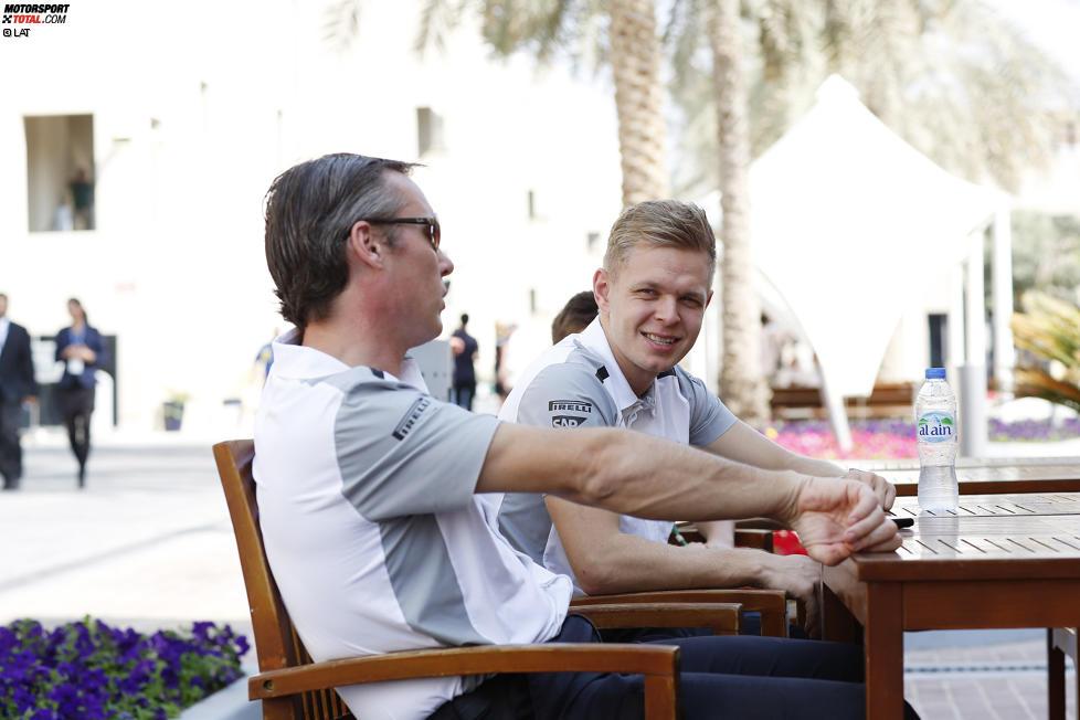Kevin Magnussen (McLaren) und Sam Michael