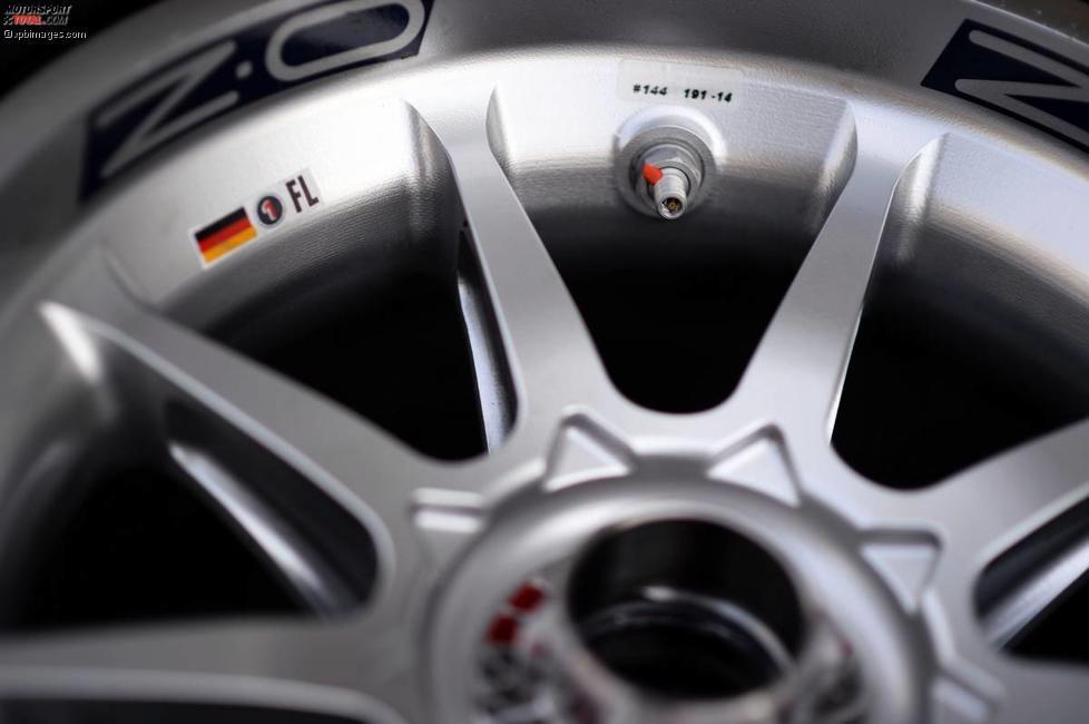 Felge und Ventil von Sebastian Vettel (Red Bull)