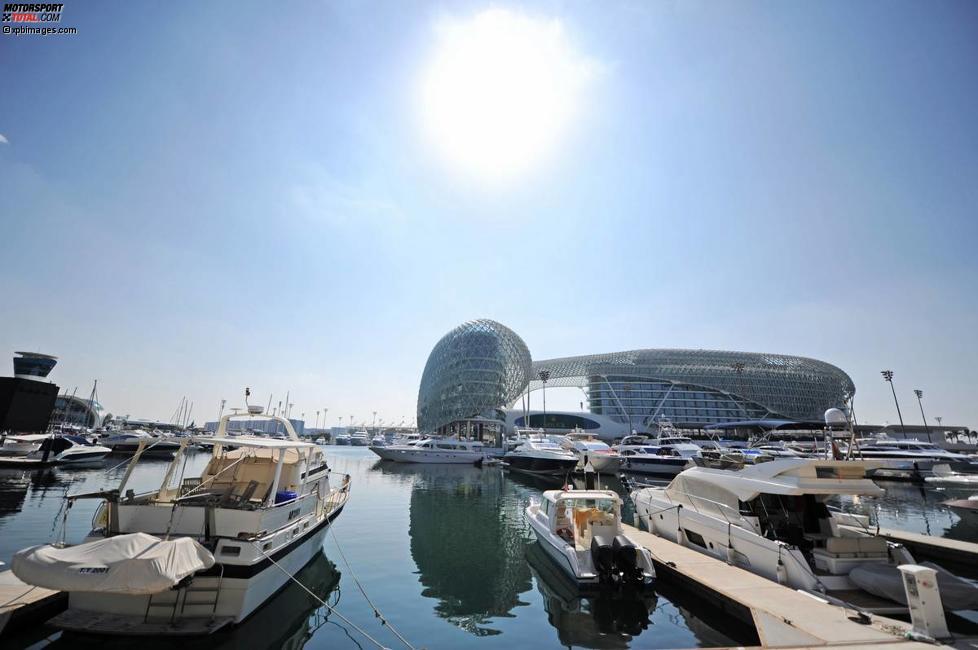 Paddock in Abu Dhabi