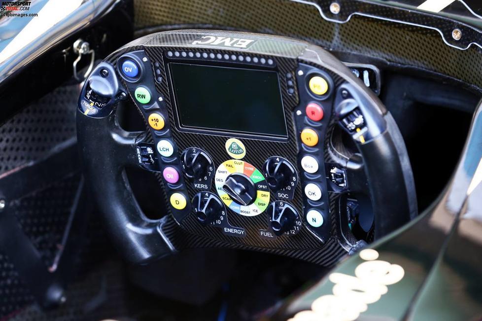 Lenkrad des Lotus E22