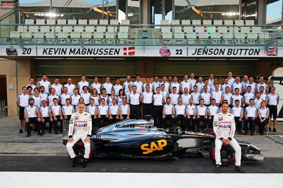 Kevin Magnussen (McLaren) und Jenson Button (McLaren)