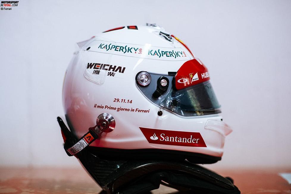Der weite Helm mit dem Datum des ersten Tests