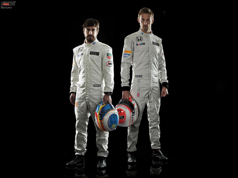 Fernando Alonso und Jenson Button (McLaren)