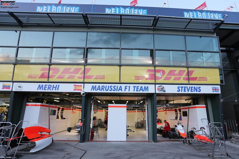 Garage des Manor-Teams
