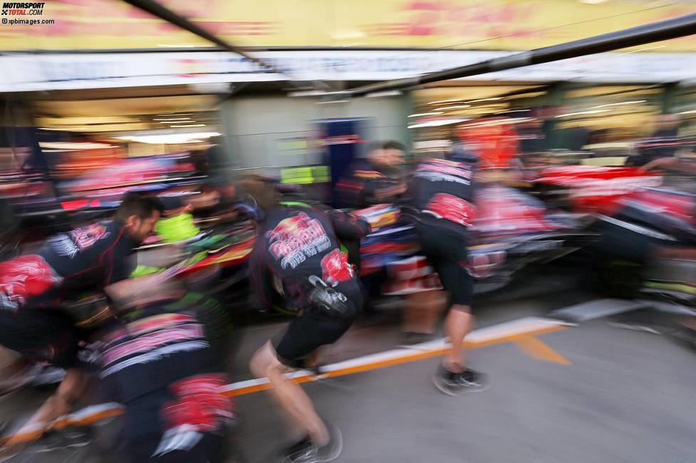 Toro Rosso übt Boxenstopps