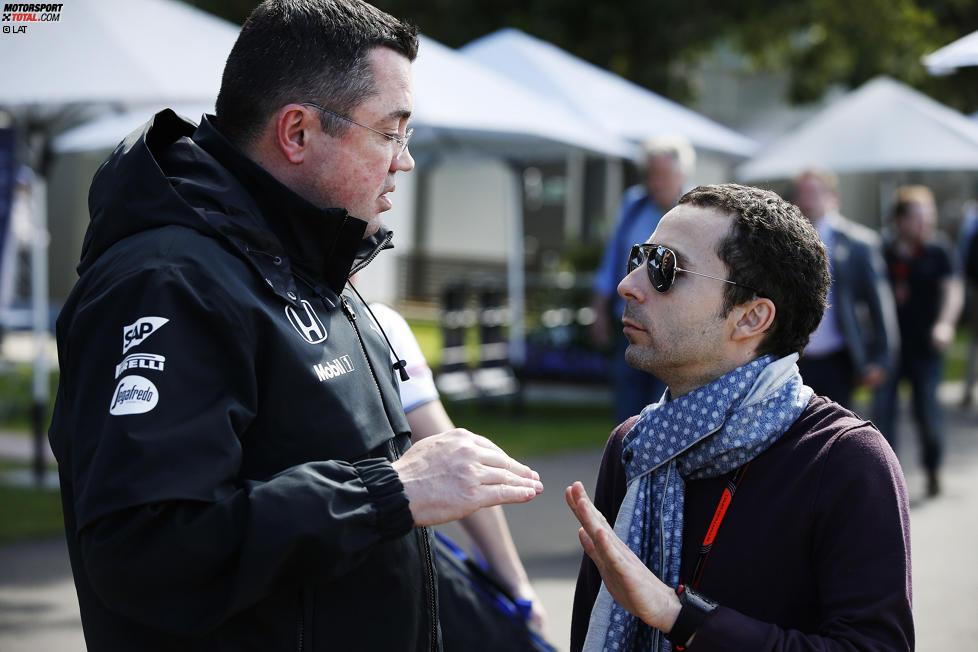 Eric Boullier (McLaren) und Nicolas Todt