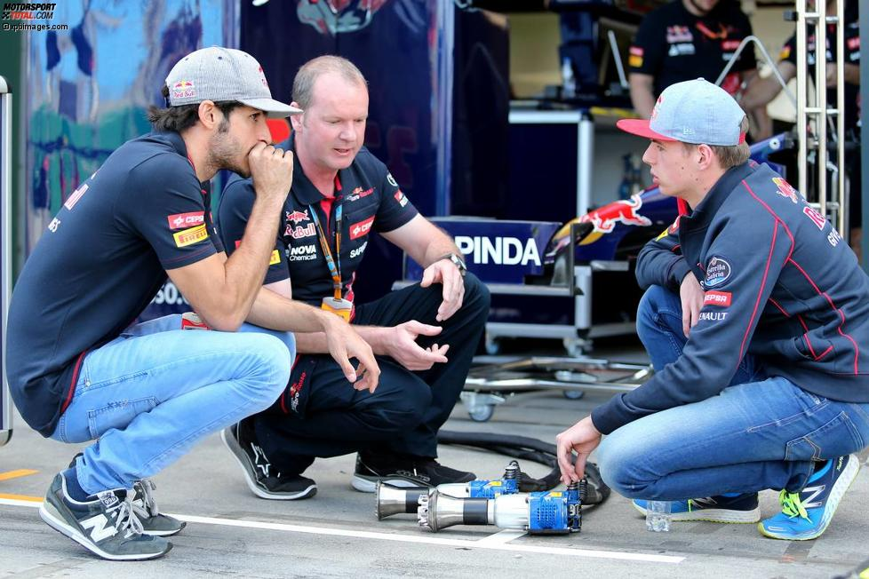 Carlos Sainz jun. (Toro Rosso) und Max Verstappen (Toro Rosso)