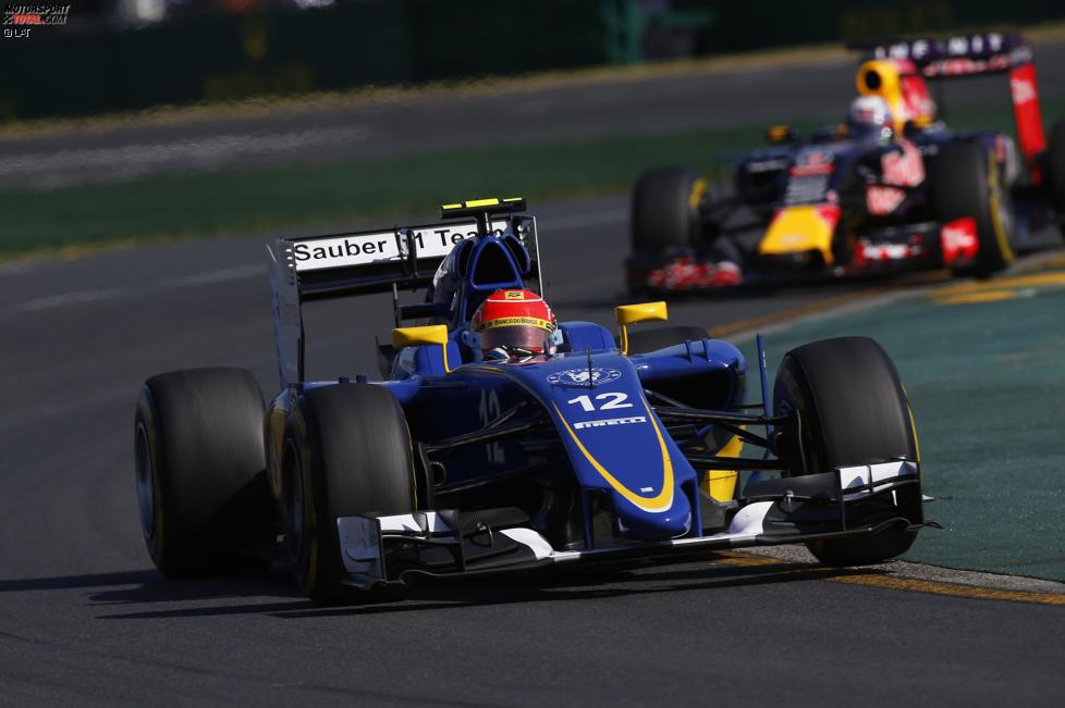 Felipe Nasr (Sauber) und Daniel Ricciardo (Red Bull)
