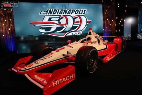 Das Siegerauto des 99. Indy 500: Der Penske-Chevrolet von Juan Pablo Montoya
