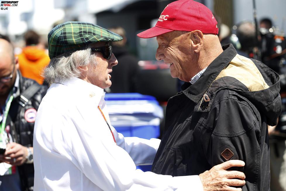 Jackie Stewart und Niki Lauda