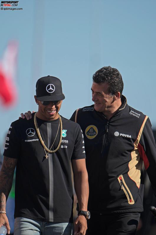 Lewis Hamilton (Mercedes) und Federico Gastaldi