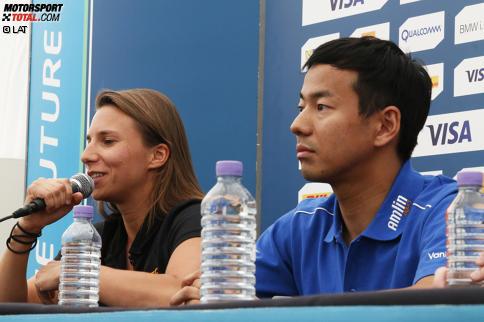 Simona de Silvestro (Andretti) und Sakon Yamamoto (Aguri)