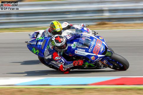 Jorge Lorenzo überholt Karel Abraham - MotoGP in Brünn, - Training14.08.2015, 18:45:29 ...