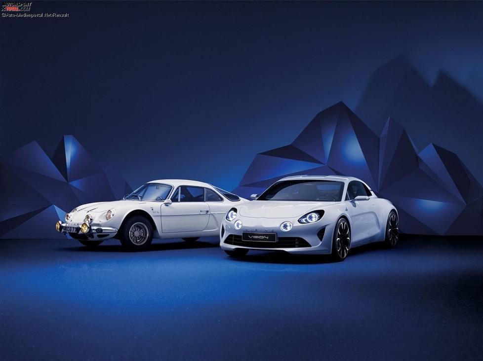 Renault Alpine Vision (r.) und das Vorbild A 110