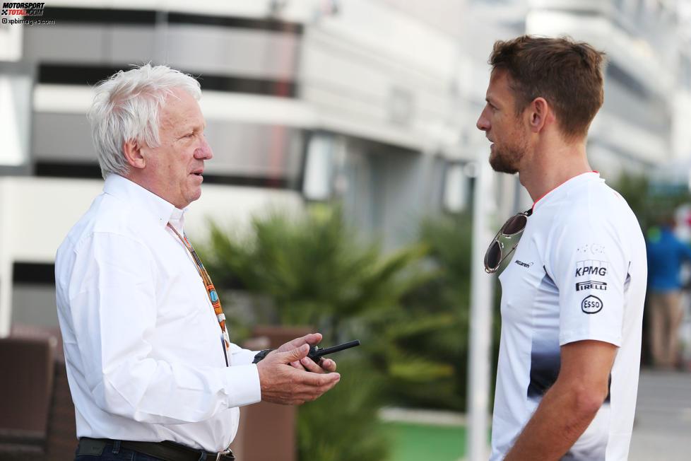 Charlie Whiting und Jenson Button (McLaren)