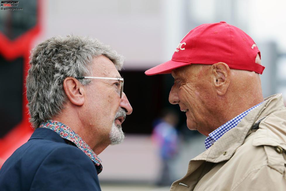 Eddie Jordan mit Niki Lauda