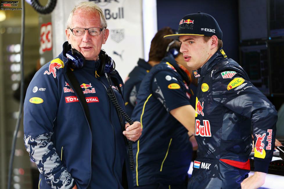Helmut Marko und Max Verstappen (Red Bull)