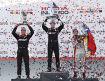 Will Power (Penske), Simon Pagenaud (Penske) und Carlos Munoz (Andretti)