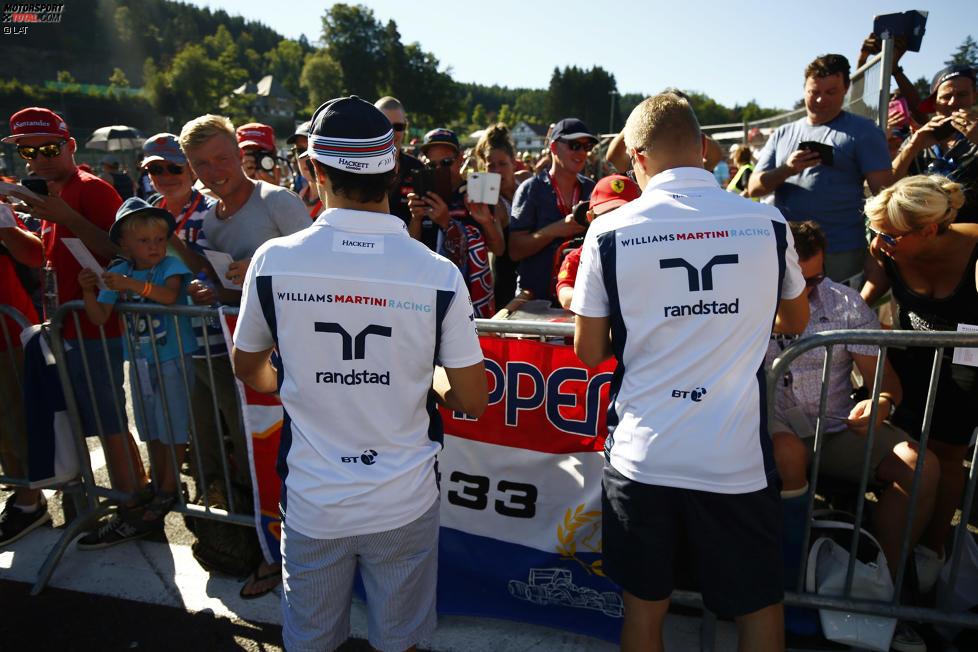 Felipe Massa (Williams) und Valtteri Bottas (Williams)