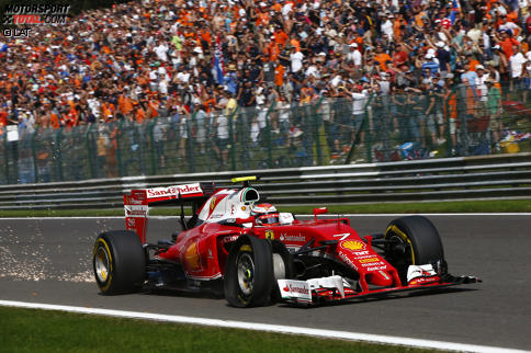 Kimi Räikkönen (Ferrari), Max Verstappen (Red Bull) und Sebastian Vettel (Ferrari)