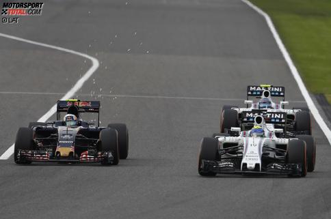 Carlos Sainz (Toro Rosso), Felipe Massa (Williams) und Valtteri Bottas (Williams)