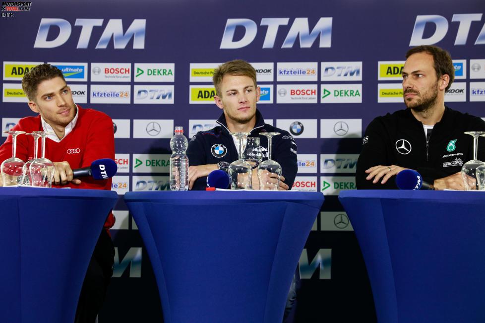 Edoardo Mortara (Abt-Audi-Sportsline), Marco Wittmann (RMG-BMW) und Gary Paffett (ART-Mercedes)