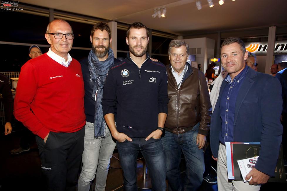 Martin Tomczyk (Schnitzer-BMW), Norbert Haug und Tom Kristensen
