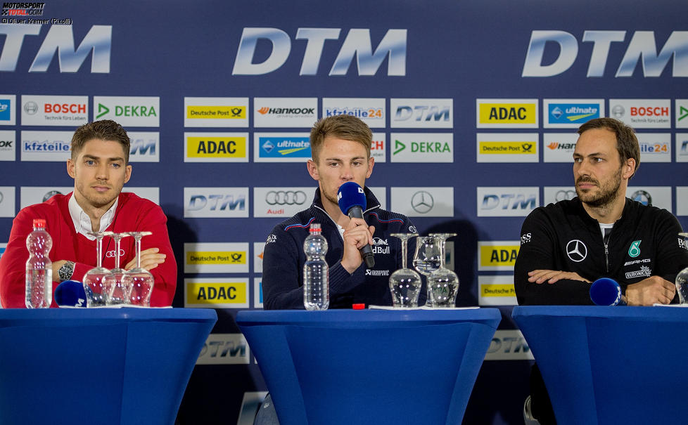 Edoardo Mortara (Abt-Audi-Sportsline), Gary Paffett (ART-Mercedes) und Marco Wittmann (RMG-BMW)