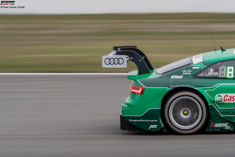 Heckflügel bei Edoardo Mortara (Abt-Audi-Sportsline)