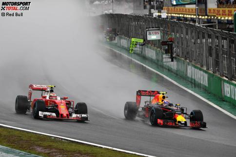 Mit dem Manöver gegen Räikkönen gab Verstappen einen ersten Vorgeschmack. Jetzt durch die Highlights des spektakulären Grand Prix von Brasilien klicken.