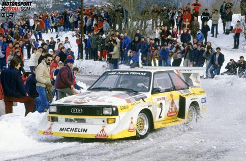 Mit mehr als 500 PS durch die Zuschauermassen: Der Audi quattro steht wie kein zweites Auto für die spektakuläre Ära der Gruppe B.