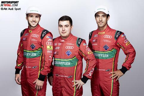 Daniel Abt, Patrik Holzmann und Lucas di Grssi
