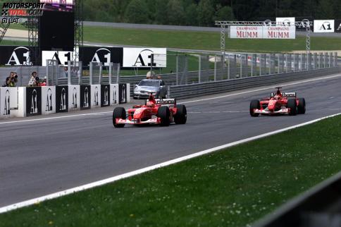"""Ikonischer Funkspruch von Jean Todt: """"Let Michael pass for the campionship!"""" Jetzt durch die Geschichte des Grand Prix von Österreich klicken!"""