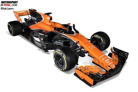 Der neue McLaren kommt mit viel Orange und Schwarz daher, an einem Hauptsponsor fehlt es jedoch weiterhin.