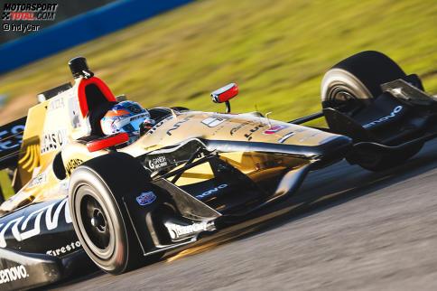 Robert Wickens probierte in Sebring den IndyCar-Boliden zum ersten Mal aus.
