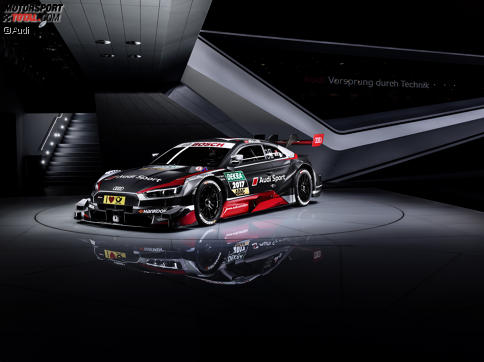 Audi präsentiert beim Automobilsalon in Genf den neuen DTM-Boliden.